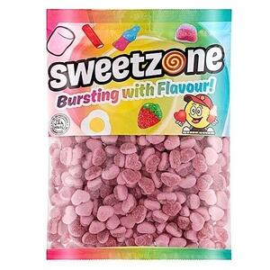 Fizzy Strawberry Hearts Sweetzone 1kg