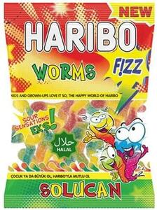 Worms fizz Haribo 70g